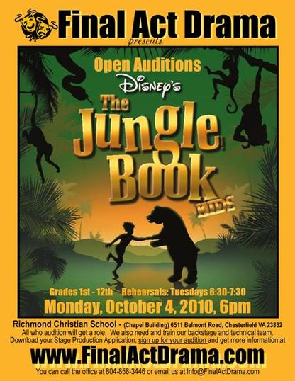 Please sign up below to audition and download the form below.